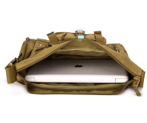 Image 3 - Mannen 1000D Nylon Messenger Schoudertas Militaire Student Tas Trekking Aktetas Laptop Pack