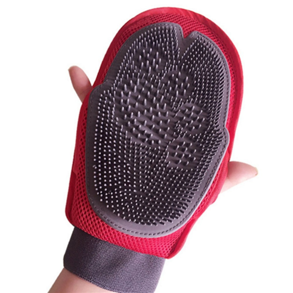 Soft Mitt Pet Grooming Glove Brush for Long & Short Hair Pets to Eliminate Shedding Useful for Combing and Cleaning of Pets 2