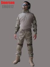 us army military uniform for men EMERSON Combat Uniform Gen2 (A-TACS) em6912 with pads shirt and pants