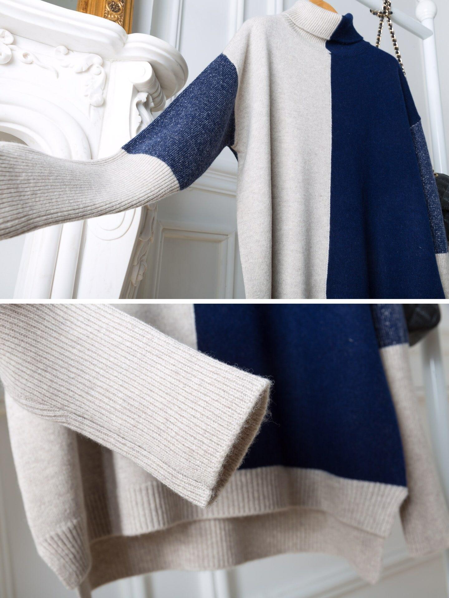 2019 Blue En Vêtements Couleurs Laine Pull D'hiver Femmes 1 Tailles Nouveau rqTvwr