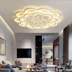 Luces de techo Led modernas para sala de estar habitación de estudio cristal lustre plafonnier hogar Deco lámpara de techo avize