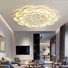 現代のledシーリングライトリビングルームクリスタル光沢plafonnierホームデコ天井ランプavize