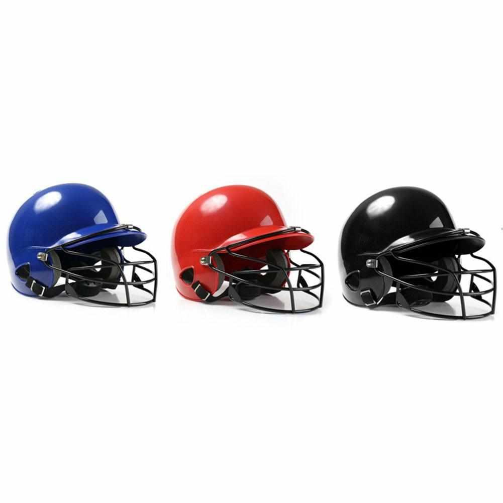 Casco de béisbol Hit Helmet Binaural Baseball Helmet Wear Mask escudo cabeza Protector cara softbol Fitness equipamiento para bienestar corporal
