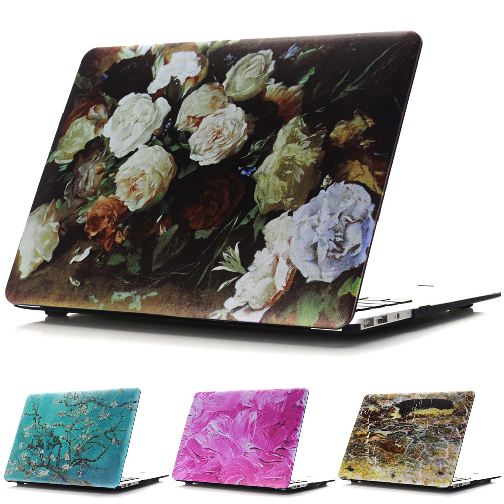 Flower Color Style Protective Hard Case Shell for MacBook 12 inch Air 11 13 inch Pro 13 15 inch Pro Retina 13 15 inch Touch Bar