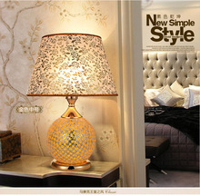 Free Shipping Mosaic Handmade Table Lamp Light Lamp Dual Antiquity Combined  Professional Moderntable Light Factory Outlets