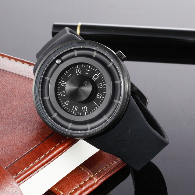 Quartz Rotating Dial Wristwatches
