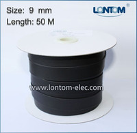 50 Meters 9.0mm 2:1 Heat Shrink Tube Cable Sleeve black