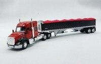 Сплав модель 1: 64 DCP DC Красный Kenworth T680 52 на крыше Sleeper грузовик с прицепом литая игрушка модель для сбора украшения