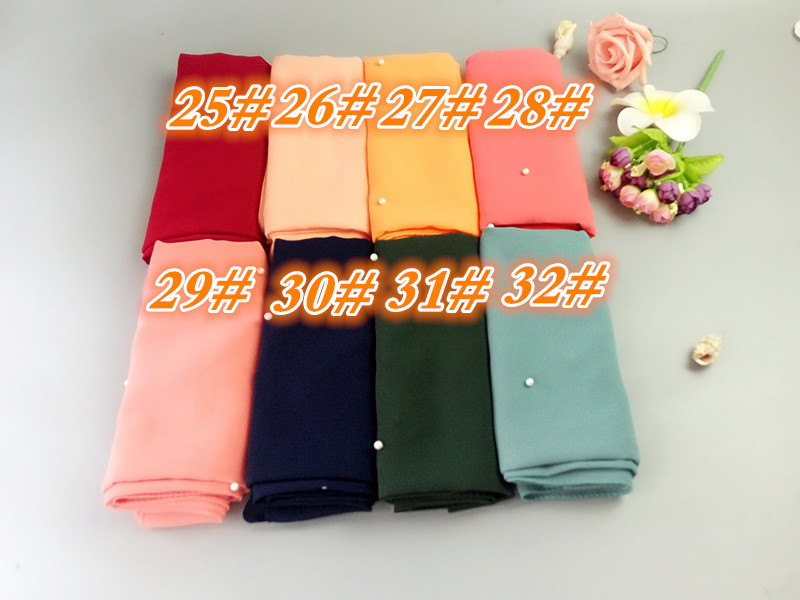 N8 high quality pearl bubble chiffon plain shawls nice lady hijab women scarves/scarf 180*75cm