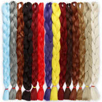 LISI cheveux synthétiques tressage Extensions de cheveux 82 pouces 165 g/paquet Long Jumbo tresses Crochet cheveux en vrac violet rose gris