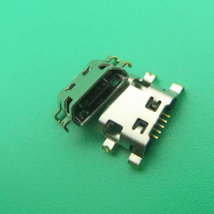 10 قطعة/الوحدة صغيرة مايكرو USB ل Wiko حمى 4 جرام إصلاح أجزاء جاك التوصيل المقبس موصل الطاقة شحن ميناء حوض استبدال