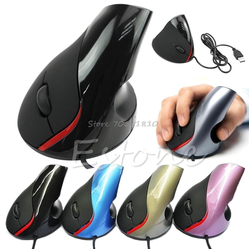 Эргономичный дизайн, Вертикальная оптическая мышь USB для заживления запястья для компьютера, ПК, ноутбука, Прямая поставка
