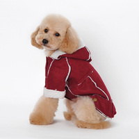 2017 New Fashion Red Wine Light Brown Dark Brown Lambskin British Style Rompers Pet Dog Clothes