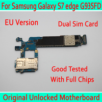 for Samsung Galaxy S7 edge G935FD Original unlocked Motherboard Dual Sim Card for Samsung S7 G935FD Logic board Europe Version