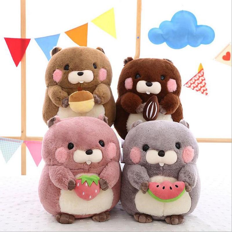 New Style Lovely Hamster Short Plush Toy Soft Stuffed Animal Doll Gift For Children Birthday
