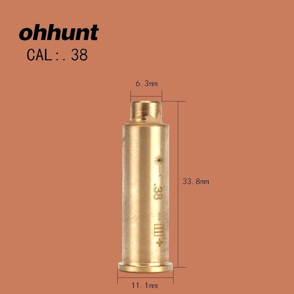 Ohhunt CAL .38 патронов красный лазерный Диаметр Sighter Boresighter Охотничьи Аксессуары для дробильной винтовки страйкбол