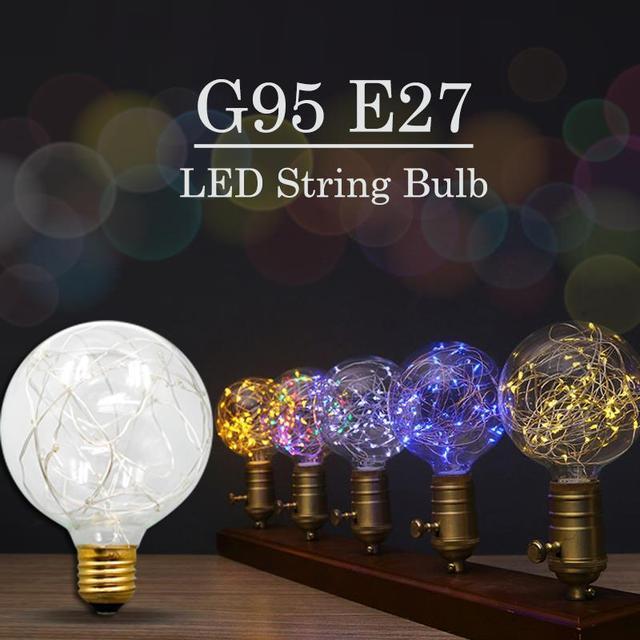 G95 Vintage Led E27 110v 220v For Decor Retro String Fairy Lights Edison Bulb Light