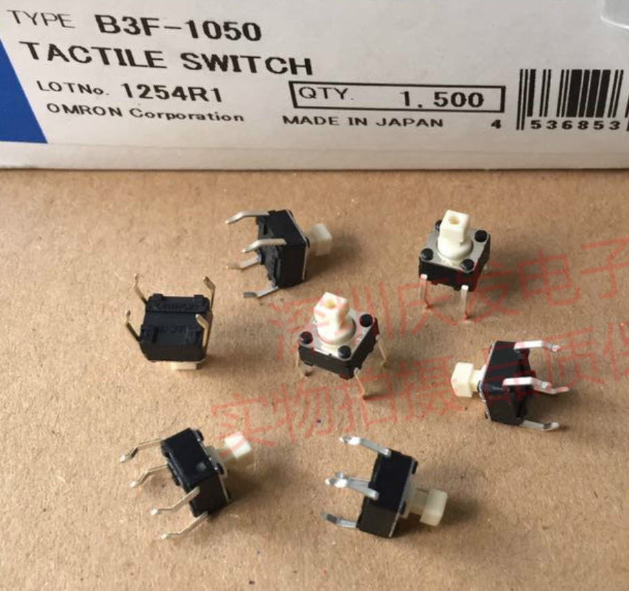 Image 2 - 50Pcs/lot New original OMRON B3F series light touch switch button B3F 1050 0.98N / B3F 1052 1.47N / B3F 1055 2.55N 6*6*7.3mmSwitches   -