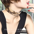 LUALAICNEY BRAND genuine horsehair leather sexy women jewelry wide choker necklace 2016