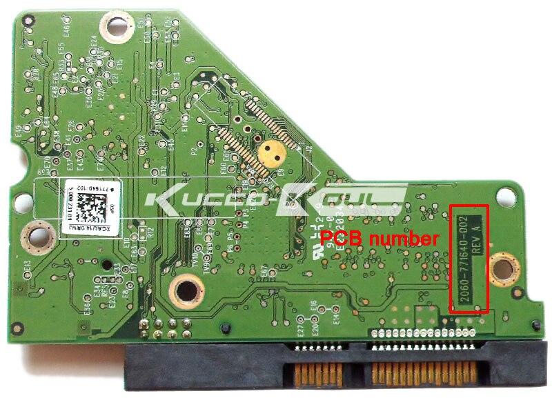 HDD PCB Logic Board 2060-771640-002 REV A For WD 3.5 SATA Hard Drive Repair Data Recovery