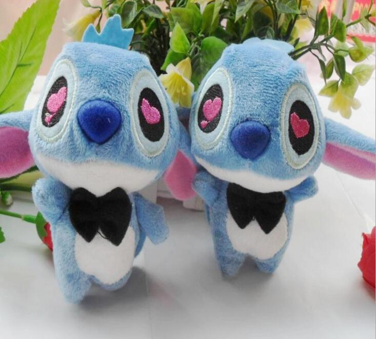 30Pcs/lot Kawaii Joint Stitch Plush Toy, 10cm Small Stitch Joint Pendant Toy ,Wedding&Party Keychain Gifts Toys