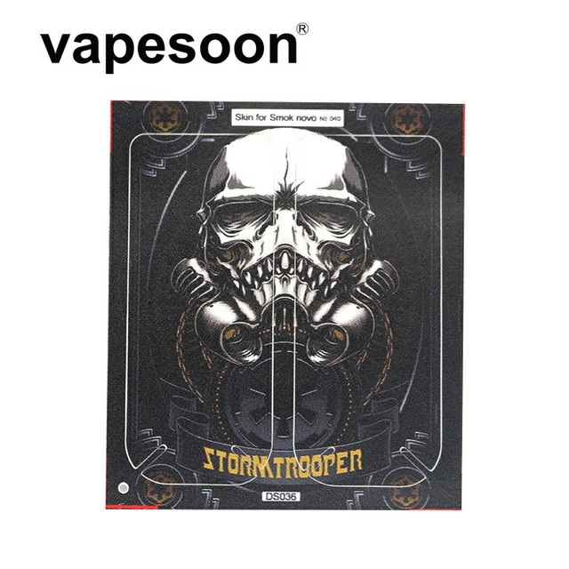 US $1 56 20% OFF|Shura Imperial Stormtrooper Pattern Stlye Wrapper Sticker  Protector Skin for SMOK Novo Pod Vape Kit e Cigarette-in Electronic