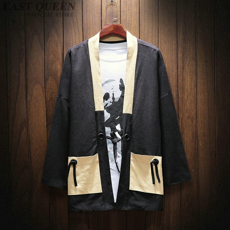 Kimono cardigan hommes yukata samouraï vêtements japonais mode homme yukata haori japon chemise japonais homme kimono AA3816 Y A