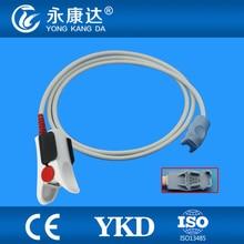 Datex-Ohmeda OxyTip+ OXY-F-UN Compatible Adult Finger Clip SpO2 Sensor, 8pins, 1m