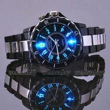 Hodinky superior Negro de Los Hombres de Lujo Relojes Deportivos Impermeables 7 Led multicolor Reloj De Luz Reloj OH02 Relogio Esportivo Feminino