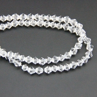 Miễn phí vận chuyển 4 mét bicone pha lê hạt rõ ràng quyến rũ màu glass hạt hạt lỏng spacer bead đối với diy trang sức làm