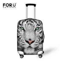 Stretch Fabric Travel Protective Luggage Covesr For 18 30 InchTrunk Case Tiger Giraffe Elastic Dust Suitcase