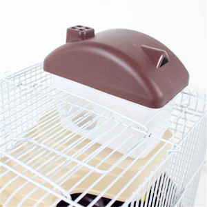 Image 3 - AHUAPET House For Hamster Hedgehog House Guinea Pig Bed Cage For Hamster Small Animal Products Cage Chinchilla  Accessories H