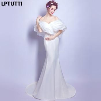 eddec2fcc LPTUTTI blanco Gratuating nuevo para las mujeres elegante fecha ceremonia  fiesta vestido de Gala Formal de lujo vestidos noche largo