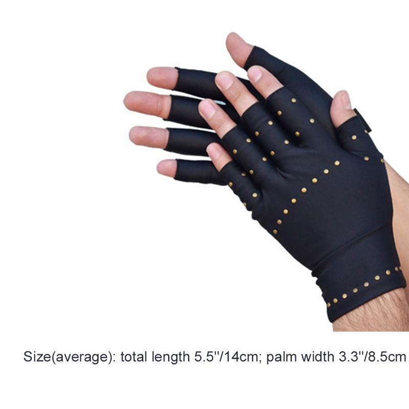 Vbiger Arthritis Compression Gloves Hand Pain Relief Gloves Half Finger Cycling Gloves for Men Women, Black