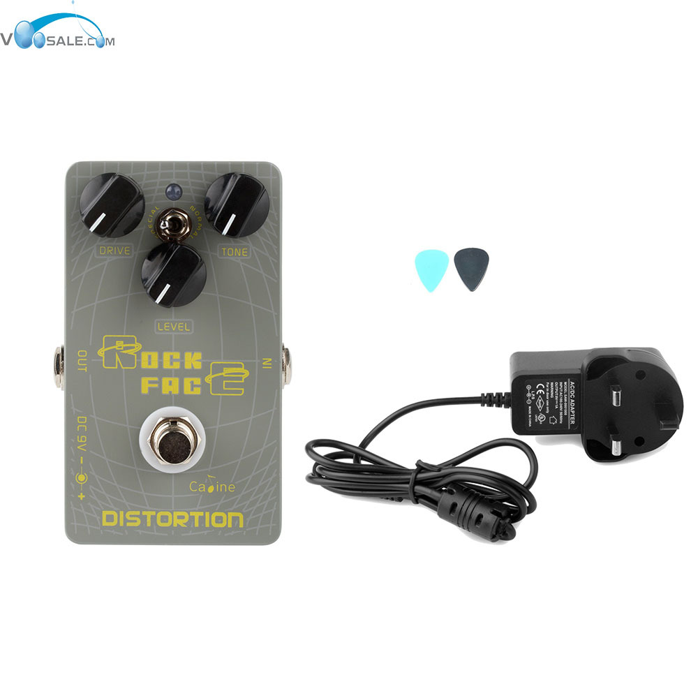 Caline CP-21 DistortionGuitar Effect Pedal Aluminum Alloy Housing+AC100V-240V to DC9V/1A Adapter Use Have AU UK US EU Plug 100pcs us eu uk au plug ac line 1 5m dc line 1 2m ac100 240v to dc 24v 1a 24w power adapter 24v1a ac adapter