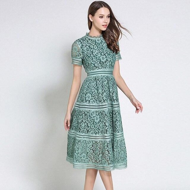 2 Color Summer Fashion 2018 Hollow Out Vintage Dress Casual Lace Dress  Beauty Elegant Dresses for Women. Previous  Next 089adeb3c396