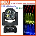 High quality 4*10w led beam moving head light DMX512 control stage light for bar outdoor activity
