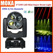 Высокое качество 4*10 Вт led луча moving головной свет DMX512 управления свет этапа для бара активного отдыха