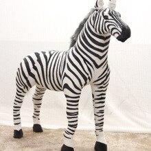 very large 110x80cm simulaiton zebra toy plush high quality goods zebra model birthday, party gift t0005