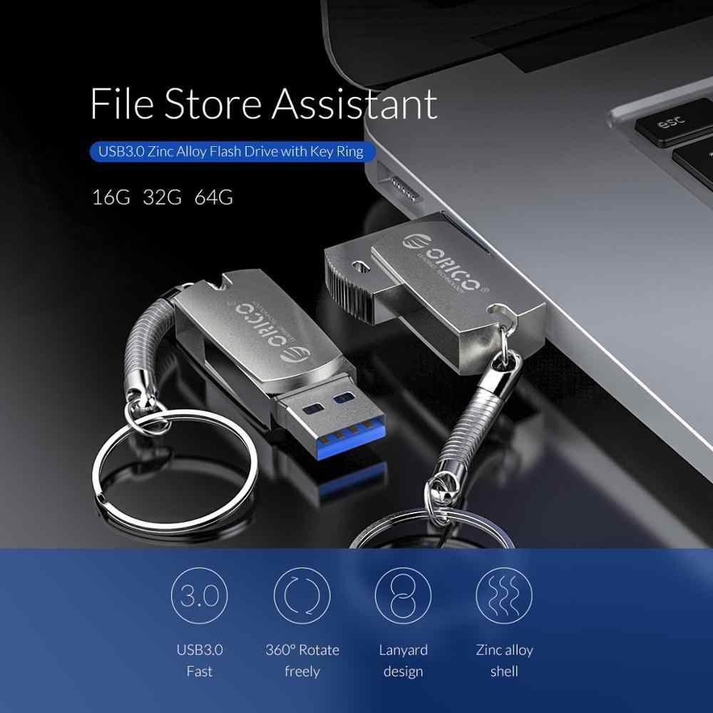 Orico U Disk USB Flash Drive 64GB 32GB 16GB USB3.0 Tipe Antarmuka Flash Disk dengan dukungan Cincin untuk Ponsel Komputer