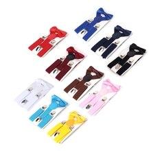 KLV Kids Suspenders Suit Adjustable Elastic Tie Baby Outfit Boys Girls Brace Fashion