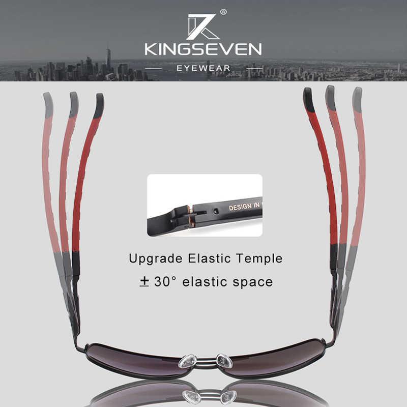 2 pçs kingseven marca design óculos polarizados lente óculos de sol feminino proteção uv combinado venda