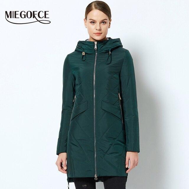 2018 MIEGOFCE Новые Весенние женские куртки с капюшоном интересный дизайн женские парки теплое модное женское пальто для мамы