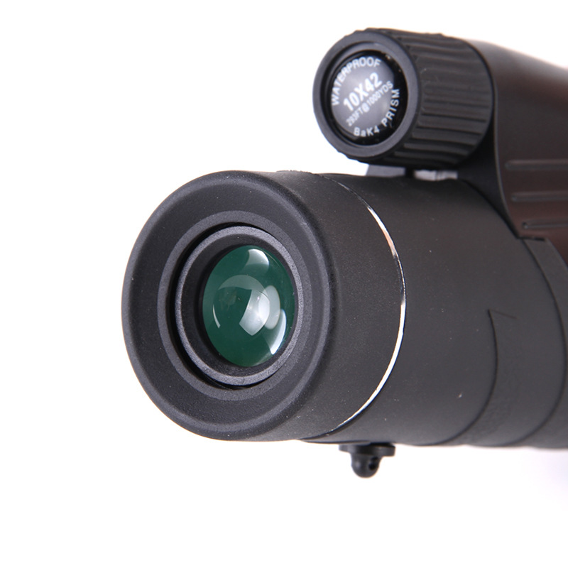 10X42 Large Eyepiece Single Tube Wide-angle High-power Monocular Telescope Outdoor Night Vision Hunting Camping Telescope 16x52 telescope high power hd night vision telescope eyepiece