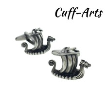 Cufflinks for Men Viking Ship Cufflinks Mens Cuff Jewelry Mens Gifts Vintage Cufflinks by Cuffarts C10316