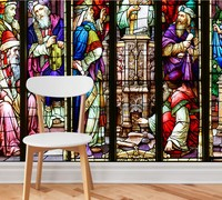Free Shipping Custom Wallpaper HD High Definition Mysterious Church Glass Stained Glass Wall Mural Design Decorative Wallpaper