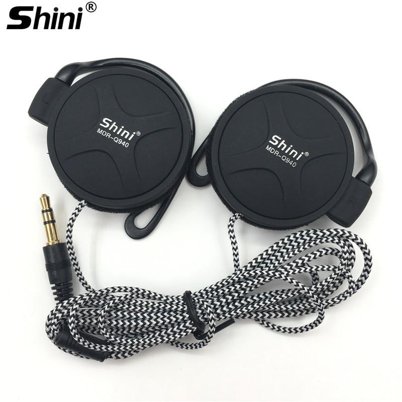 Headphones 3.5mm Super Bass Headset EarHook Earphone For Mp3 Player Computer Mobile Earphone Wholesale ShiniQ940 Free Shipping