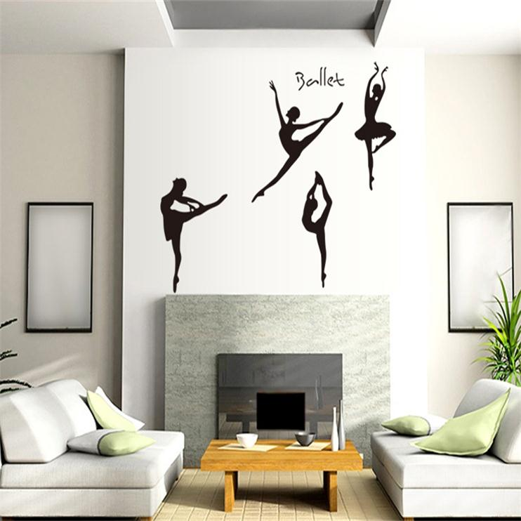 Creative Elegant Ballet Dream Music Dance Beauty Home Decal Wall Sticker For Girls Room Decoration Mural