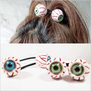 12pcs/lot Wholesale Free Shipping Fashion PUNK eyes headband hair rope bracelet Head Bands trend of the hair accessory
