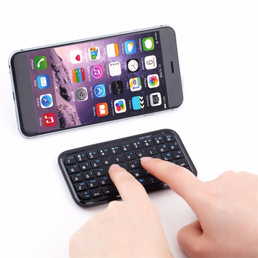 <font><b>Mini</b></font> Wireless Bluetooth 3.0 <font><b>Keyboard</b></font> for <font><b>iPad</b></font> 2 3 <font><b>4</b></font> for iPhone 4S 5 5S 6 6S 7 for Android OS PC image